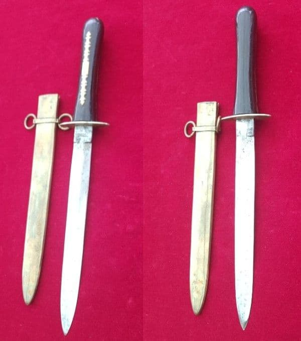 A 19th Century English Naval Dirk, blade engraved CELEBRATED CUTLERY. Circa 1860.  Ref 2468.